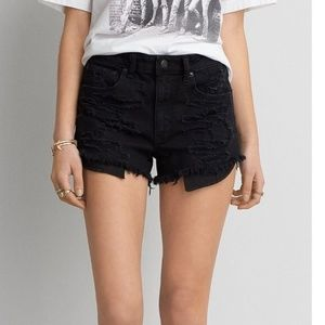 American Eagle Festival High Rise Shorts 0 Black